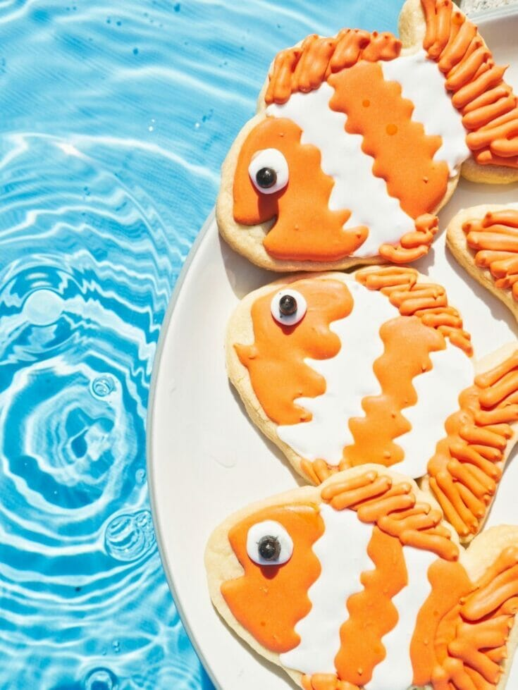 Decorated Clownfish Cookies