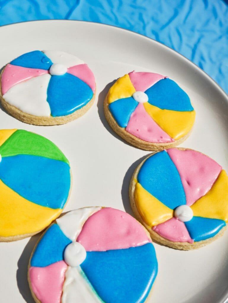 Summer Fun Beach Ball Cookies - Into the Cookie Jar