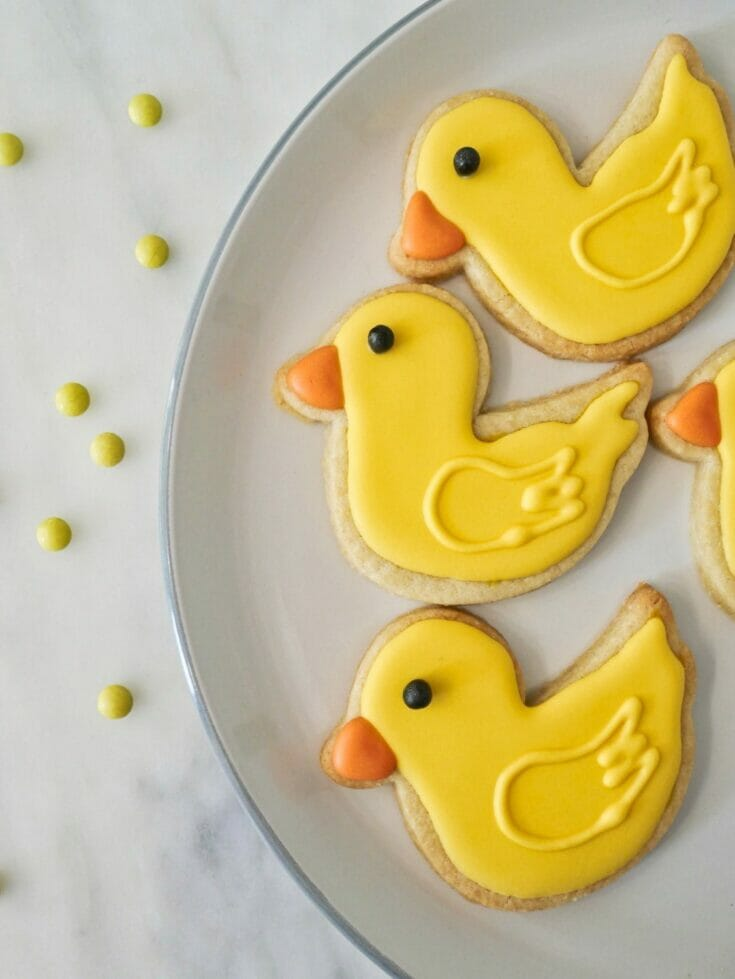 Decorated Duck Cookies