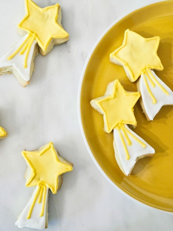 Decorated Shooting Star Cookies
