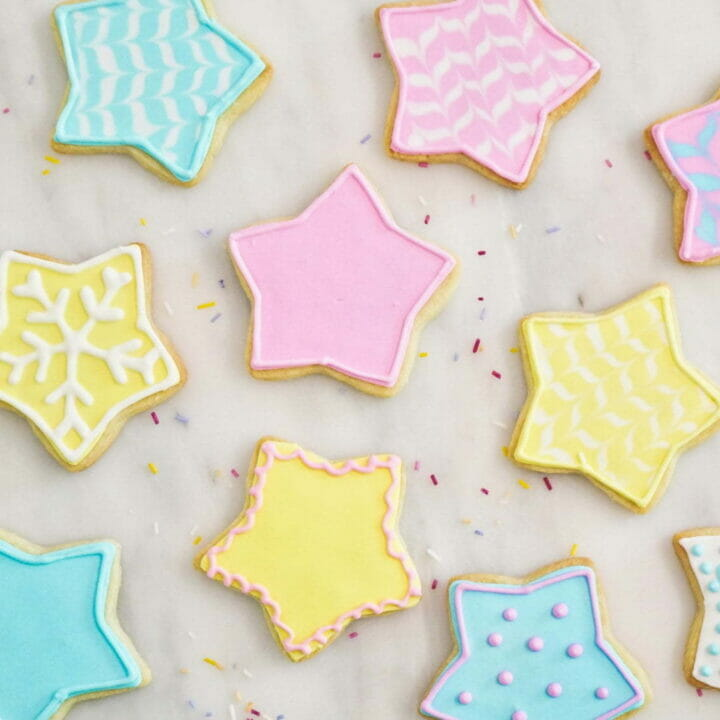 Star Cookies With Royal Icing Into The Cookie Jar
