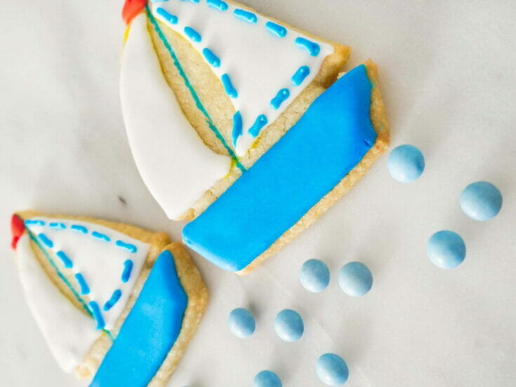 Decorated Sailboat Cookies