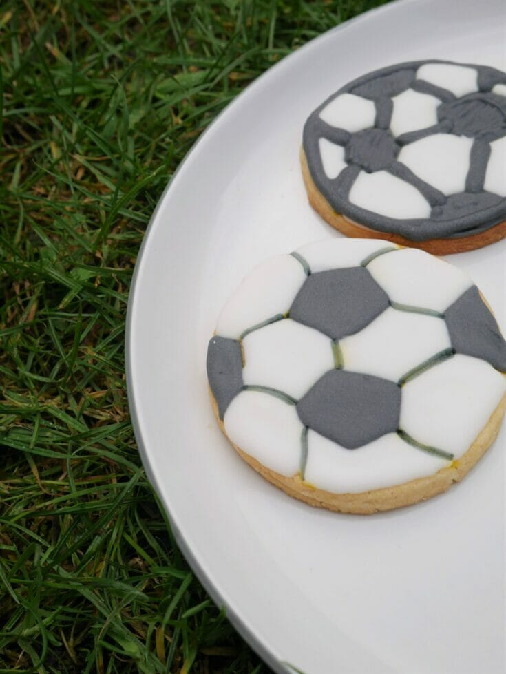 Decorated Soccer Ball Cookies