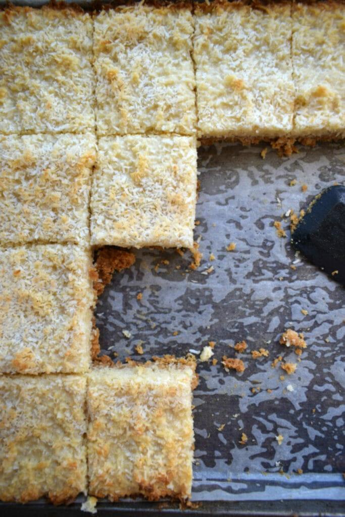 coconut cookie squares