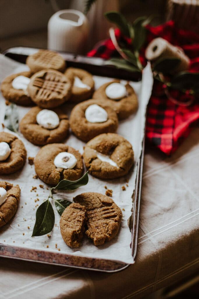 tray of freshly baked cookies