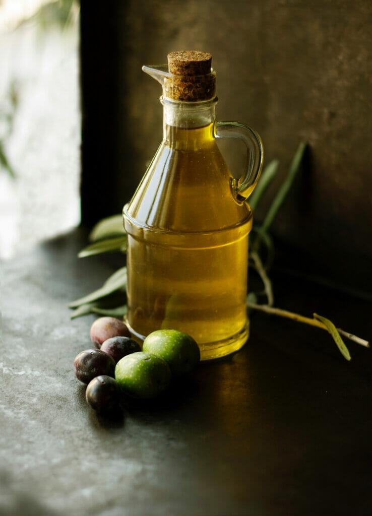 jar of olive oil