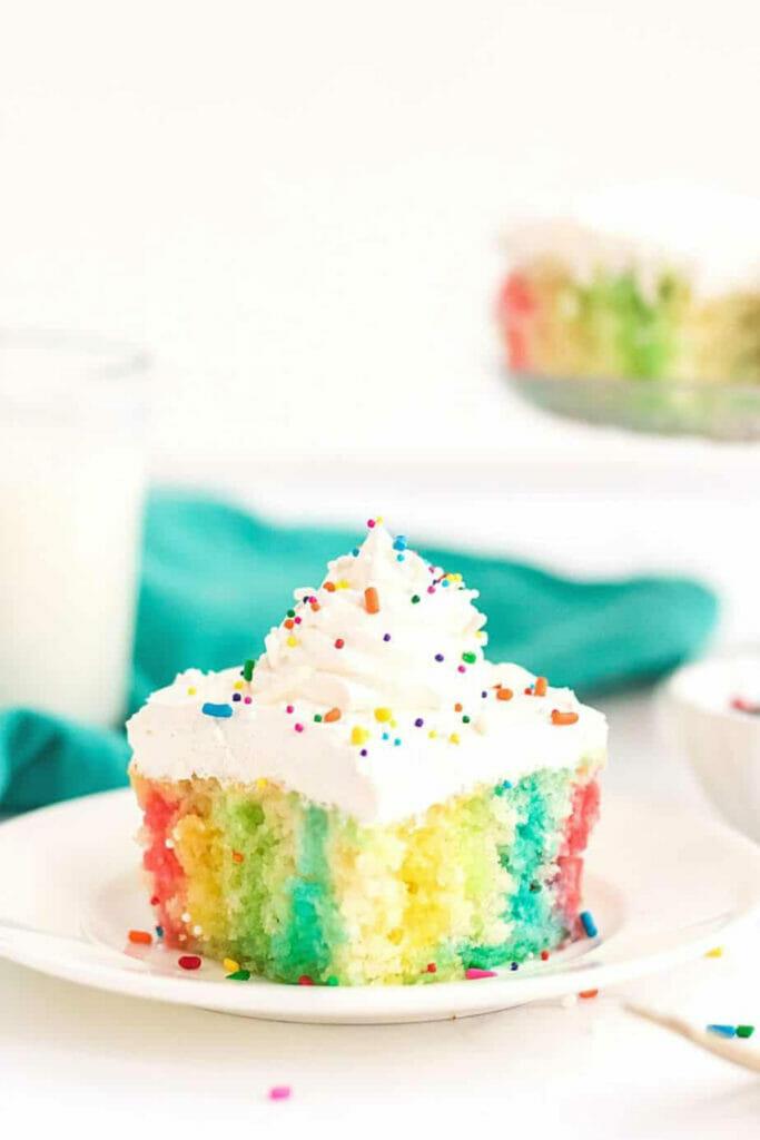 rainbow poke cake