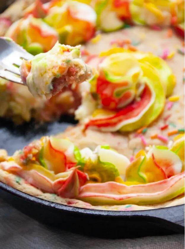 rainbow Skillet Cookie Pie