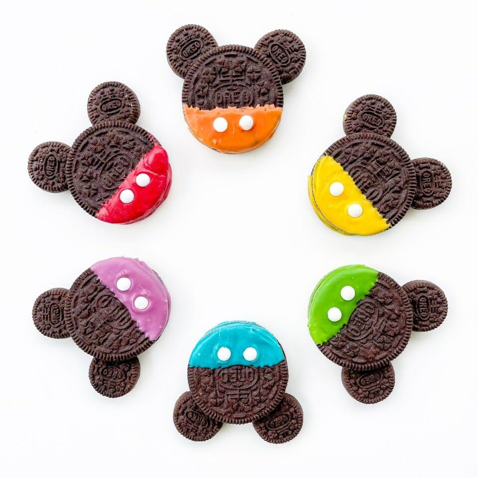 rainbow mickey oreo cookies